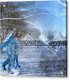 Midwinter Blues Acrylic Print