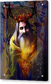 Midwinter Solstice Fire Lord Acrylic Print by Stephen Lucas