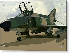 Acrylic Print featuring the digital art Mig Killer by Walter Chamberlain