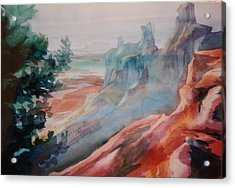 Mighty Canyon Acrylic Print by Becky Chappell