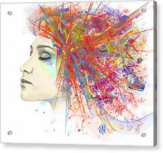 Migraine Acrylic Print by Angela A Stanton