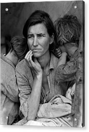 Migrant Mother, Portrait Of Florence Acrylic Print by Everett