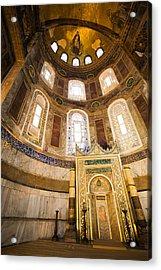 Mihrab In The Hagia Sophia Acrylic Print by Artur Bogacki