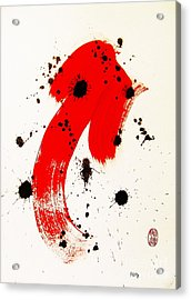 Acrylic Print featuring the painting Mikado Rising by Roberto Prusso