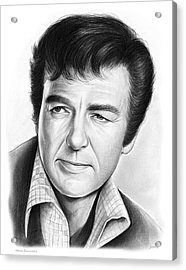 Mike Connors Acrylic Print by Greg Joens