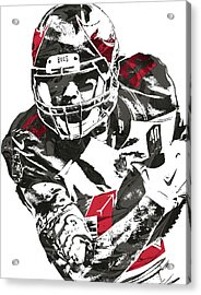 Acrylic Print featuring the mixed media Mike Evans Tampa Bay Buccaneers Pixel Art by Joe Hamilton