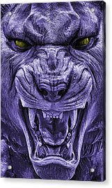 Mike In Purple And Gold Acrylic Print