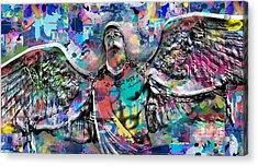 Mike Painting  Acrylic Print by Mark Ashkenazi