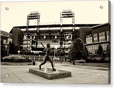 Mike Schmidt In Sepia Acrylic Print by Bill Cannon
