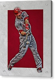 Mike Trout Los Angeles Angels Art 1 Acrylic Print by Joe Hamilton