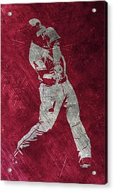 Mike Trout Los Angeles Angels Art Acrylic Print by Joe Hamilton