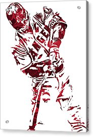 Mike Trout Los Angeles Angels Pixel Art 5 Acrylic Print