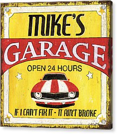 Mike's Garage Acrylic Print by Debbie DeWitt
