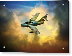 Acrylic Print featuring the photograph Mikoyan-gurevich Mig-15uti by Chris Lord