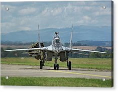Acrylic Print featuring the photograph Mikoyan-gurevich Mig-29ubs by Tim Beach