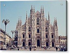 Milan Cathedral Acrylic Print by Benjamin Matthijs