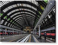 Milano Centrale Acrylic Print by Carol Japp