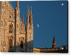 Milano Moonrise Acrylic Print by Art Ferrier