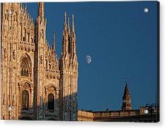 Milano Moonrise Acrylic Print by Art Ferrier