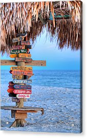 Mileage To Paradise  Acrylic Print by JC Findley