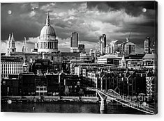 Milennium Bridge And St. Pauls, London Acrylic Print