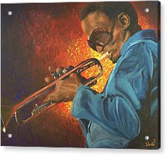 Miles Acrylic Print by Bill Werle