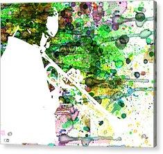 Miles Davis 2 Acrylic Print by Naxart Studio