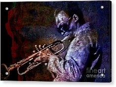 Miles Davis Jazz Legend 1969 Acrylic Print by Ian Gledhill