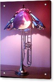 Miles Davis Lamp Acrylic Print by Greg Gierlowski