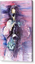 Miles Davis Meditation 2 Acrylic Print