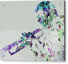 Miles Davis Acrylic Print by Naxart Studio
