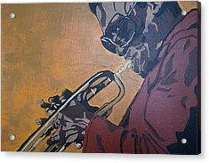 Miles Davis Acrylic Print by Rachel Natalie Rawlins