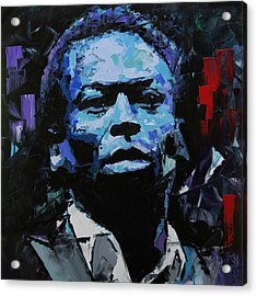 Acrylic Print featuring the painting Miles Davis by Richard Day