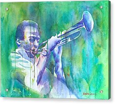 Miles Is Cool Acrylic Print by Debbie Lewis