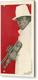 Miles Through Steel Eyes Of The Soul Acrylic Print by Buena Johnson