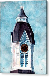 Milford Clock Tower Acrylic Print by Janine Riley
