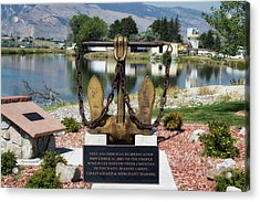 Military Anchor Memorial Cody Wyoming Acrylic Print