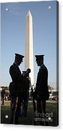 Military Ceremony At The Washington Monument Acrylic Print