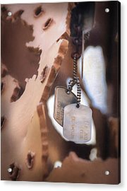 Military Dog Tags Acrylic Print