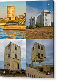 Military Observation Towers Operation Bumblebee Acrylic Print by Betsy Knapp