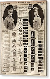 Acrylic Print featuring the photograph Military Rank Identification 1917 by Daniel Hagerman