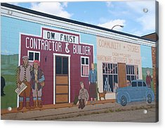 Military Street Art Acrylic Print by Robert Braley