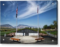 Military Vietnam Memorial Cody Wyoming Acrylic Print