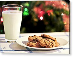 Milk And Cookies For Santa Acrylic Print by Elena Elisseeva