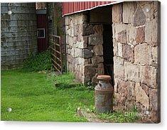 Milk Can At Stone Barn Acrylic Print