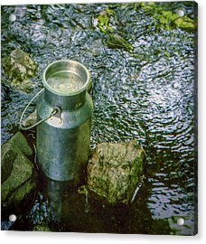 Milk Can - Wales Acrylic Print