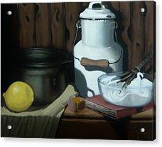 Milk Jug Meringue Acrylic Print