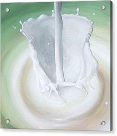 Milk Pour Acrylic Print by Michelle Iglesias