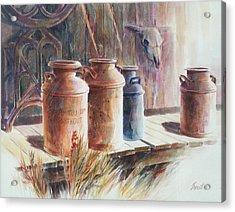 Milk Run Acrylic Print by Don Trout