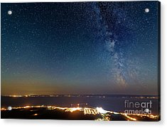 Milky Way Above Carleton In Quebec Acrylic Print by Colin Woods
